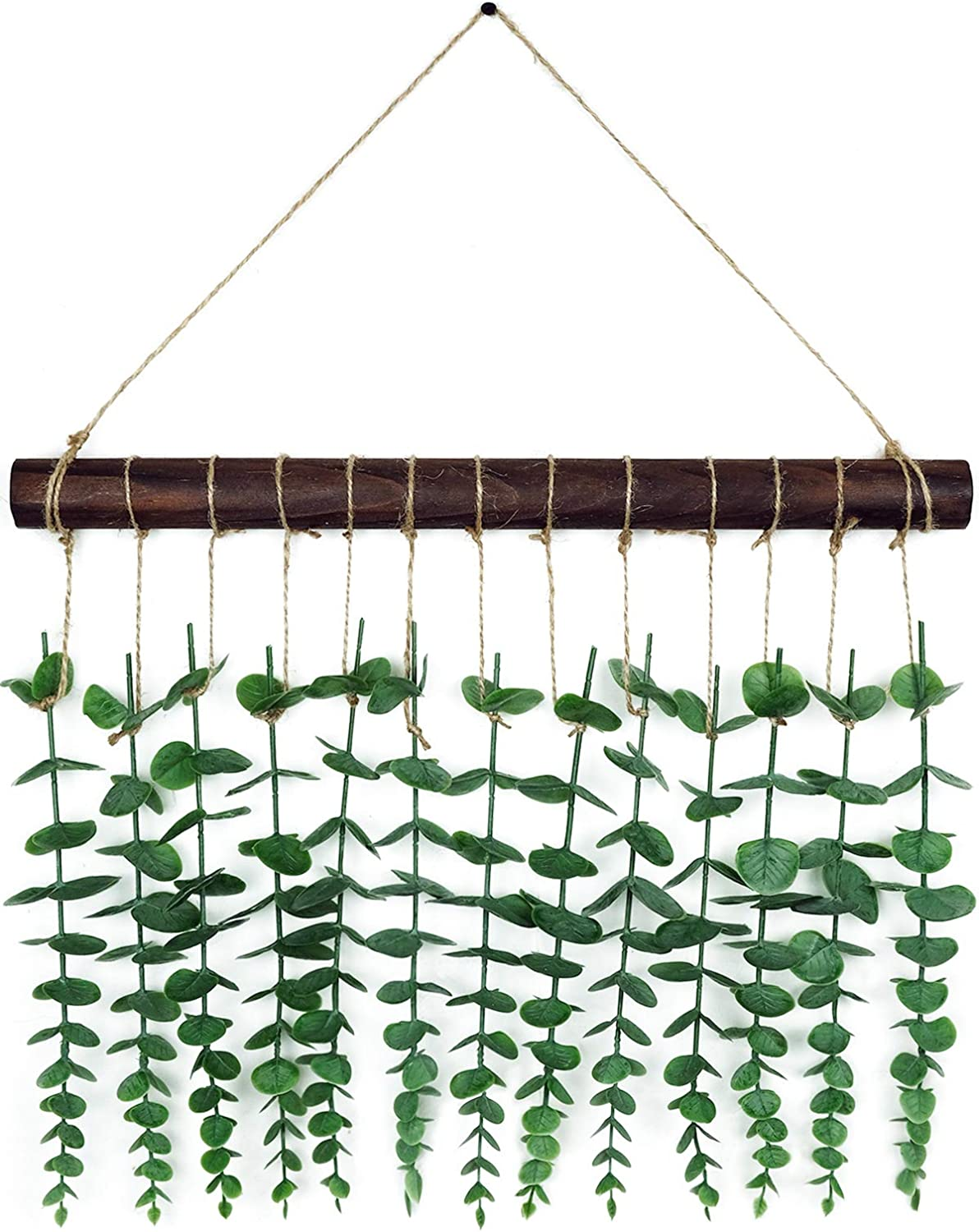 Somto Artificial Eucalyptus Wall Decor - Farmhouse Wall Hanging Fake Eucalyptus Leaves Greenery Plant for Bedroom, Nursery, and Bathroom,Boho Home Decor