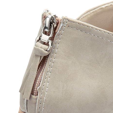... De Nieve Calentar Invierno Planos Zapatos Hebilla Plataforma Romana Tacones Altos Botas a la Rodilla Martin Botas largas: Amazon.es: Ropa y accesorios