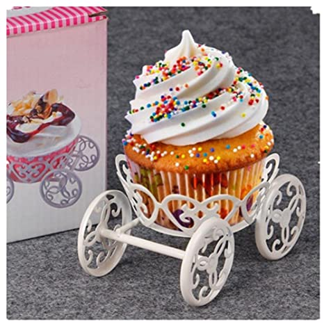 Amazon.com: Cake Holder, WINDSPEED Mini Iron carro ruedas ...