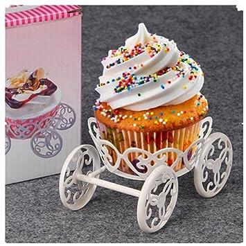 DIDA Creative carro rueda Cupcake pantalla soporte para tartas de helado galletas bandeja para magdalenas para fiestas de cumpleaños de boda decoración: ...