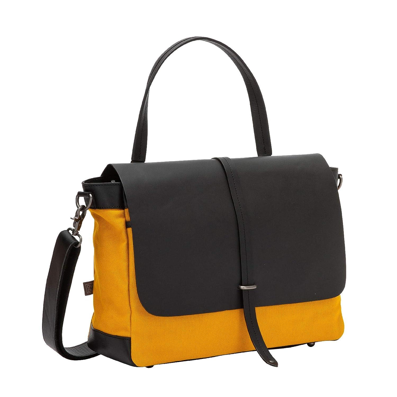 95fbf4b382 Sacs portés dos DUDU Grand Sac porté épaule pour Femme en Cuir et Toile  Bicolore façon postier avec ...