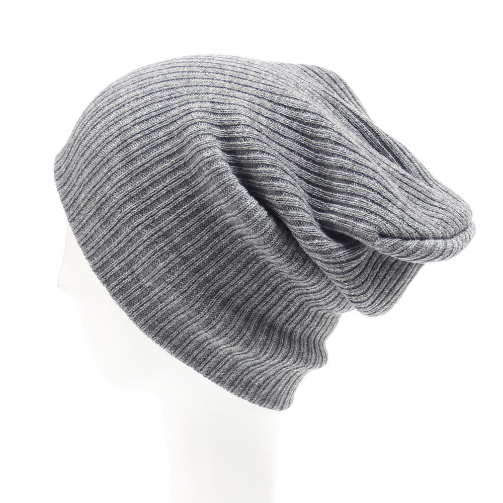 iYBUIA New Mens Women Beanie Knit Ski Cap Hip-Hop Winter Warm Unisex Wool Hat(Black, One Size) at Amazon Womens Clothing store: