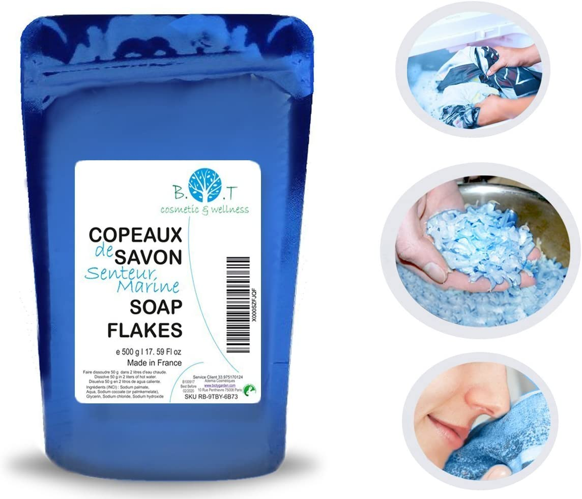 Jabón Vegetal copos Escamas de jabón concentrado 500g: Amazon.es ...