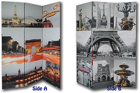 Lillyvale 182,88 cm Alto 3 Panel 2 Veces la Belleza de Paris ...