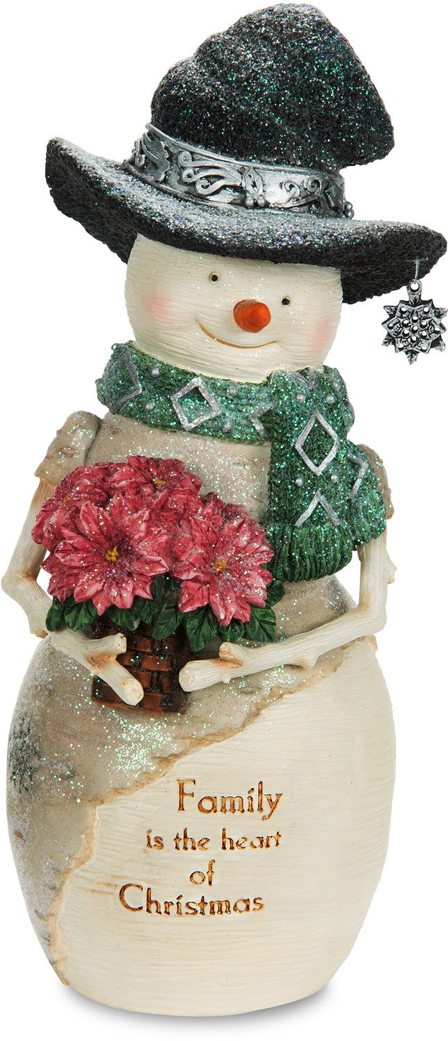 The Birchhearts Pavilion Gift Company Family is The Heart of Christmas Snowman Figurine, 7, White 7 81130