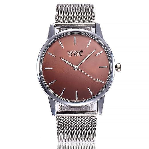 Relojes Mujer,❤LMMVP❤Casual de cuarzo de acero inoxidable banda de mármol correa reloj analógico reloj de pulsera (A): Amazon.es: Relojes