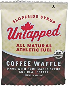 UnTapped Organic Maple Coffee Waffle - Individually Wrapped - Box of 16
