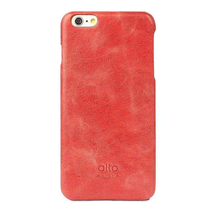 huge discount ba248 8a182 alto Handmade Premium Italian Leather Case for Apple iPhone 6 Plus & iPhone  6S Plus Original (Red)