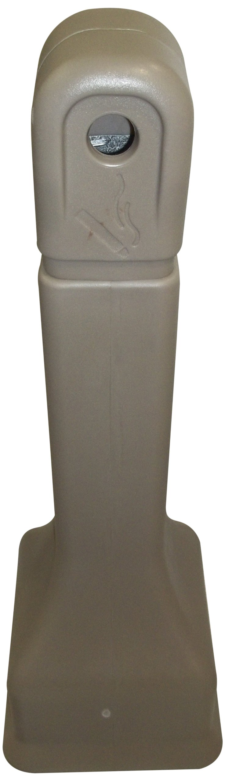 Forte Products 8001326 Plastic Cigarette Disposer Receptacle, 12'' L x 12'' W x 39'' H, Taupe