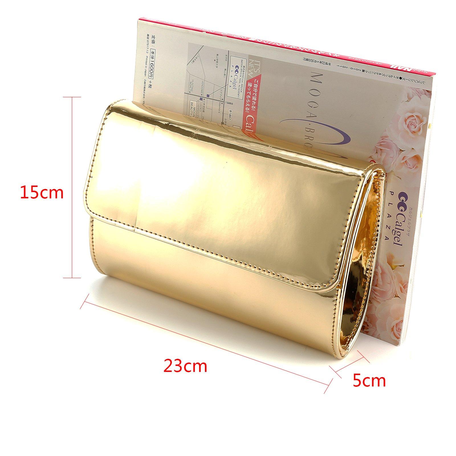 Fraulein38 Designer Mirror Metallic Women Clutch Patent Evening Bag by Fraulein38 (Image #8)