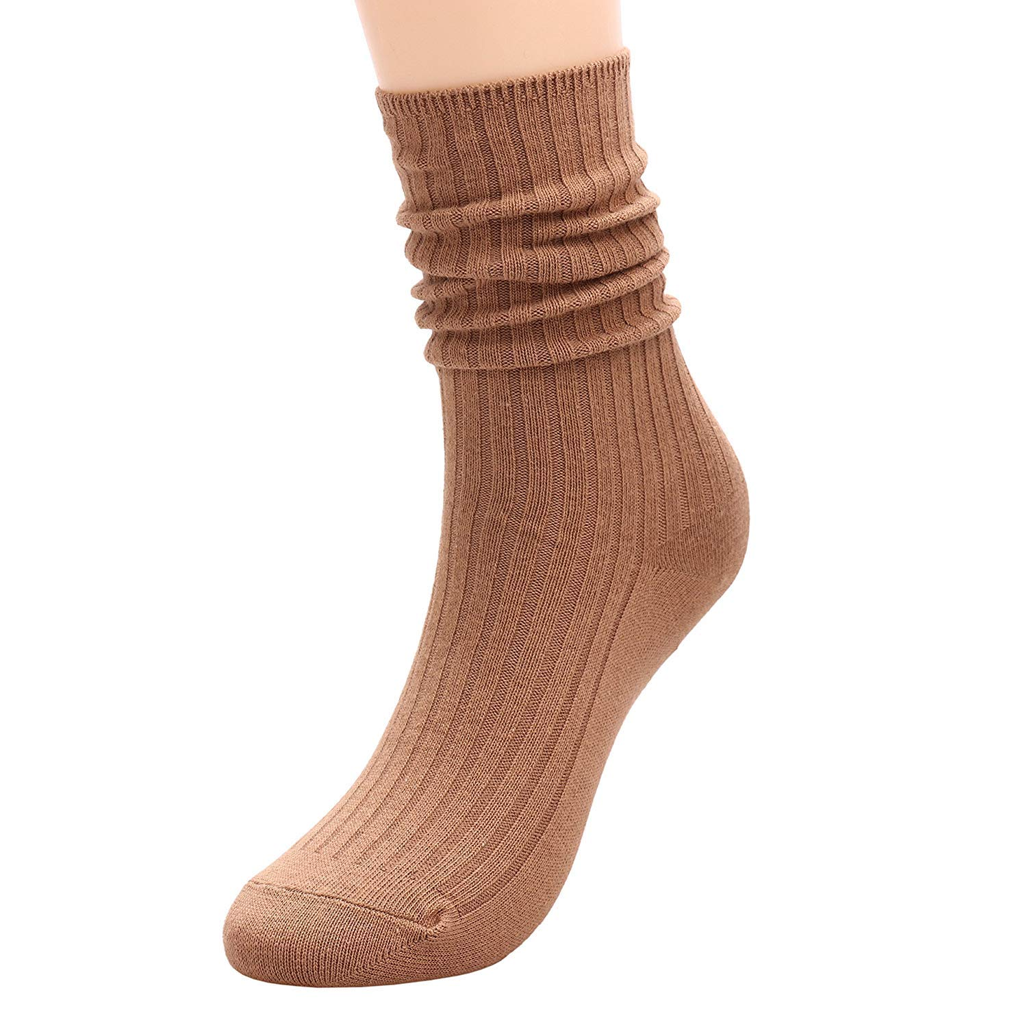 Garsumiss Women Men 6-Pack Thin Plain Coloured Cotton Ankle Socks Size 3-7 UK