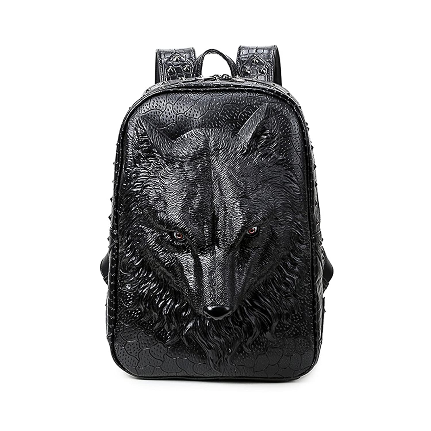 Amazon.com | Aibag Personalized 3D Wolf PU Leather Casual Laptop ...