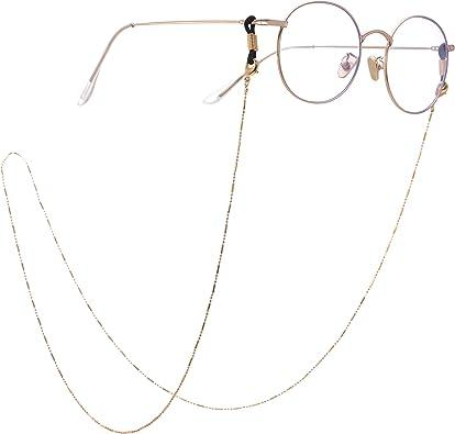 Silver fishhook Fashion Eyeglasses Chain Eyeglasses Sunglasses Reading Glasses Beads Strap Holder Chain Keeper Lanyard White Cord for Women Men Girls