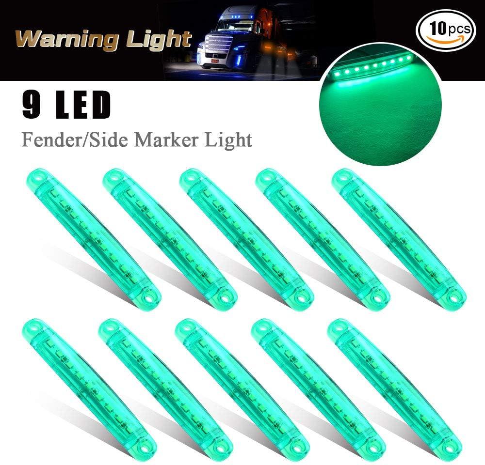 10 pz luce di indicatore laterale auto 9 LED SMD indicatore di posizione luce anteriore luci di posizione luce posteriore 12V per auto camper camion van camion rimorchio barca moto Bianco