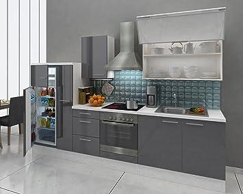 respekta Premium Instalación de Cocina Cocina 310 cm Blanco Gris ...