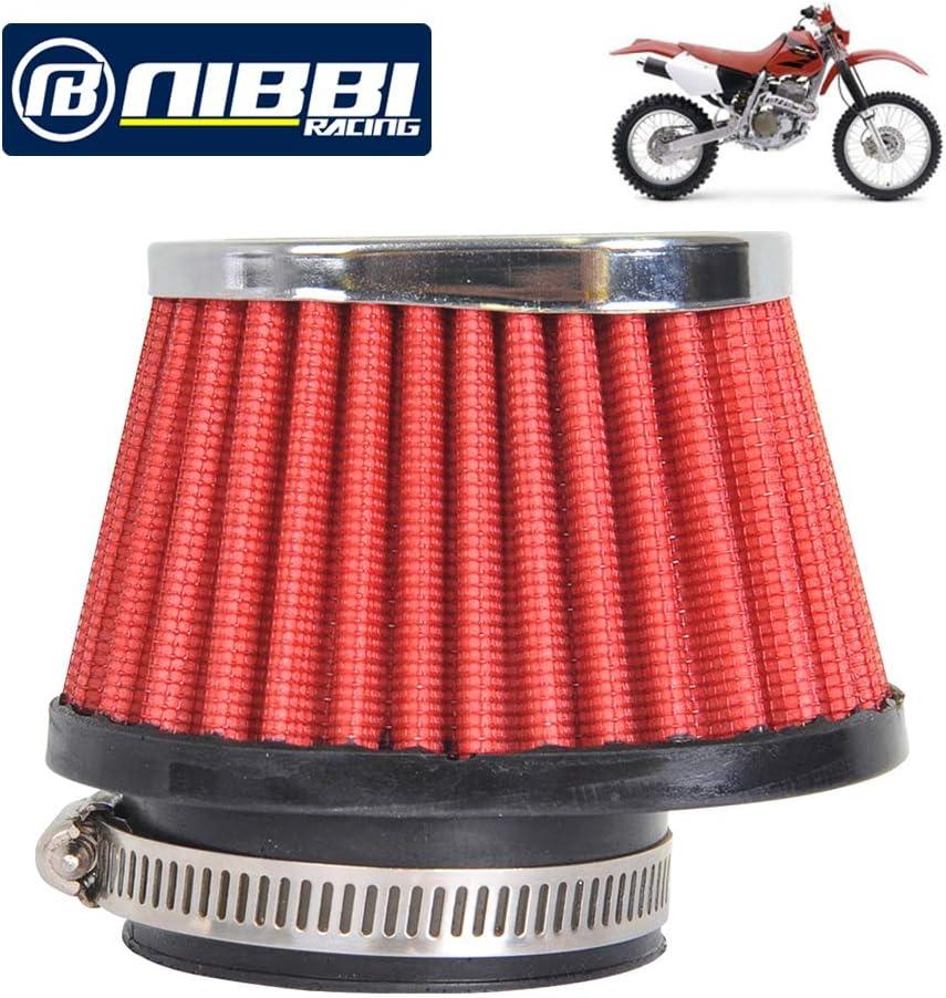 NIBBI RACING PARTS Motorcycle Air Filter High Performance Air Filter 55mm Dirt Bike Air Filter Compatible with ATV SSR TTR Dirt Bike Pit Bike Mini Bike GY6 AJS