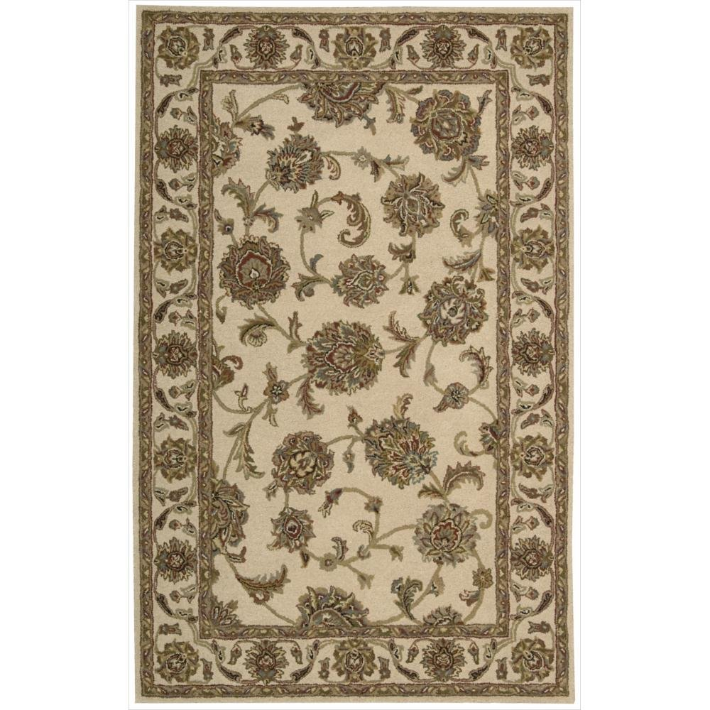Nourison India House (IH73) Ivory Rectangle Area Rug, 5-Feet by 8-Feet  (5' x 8')
