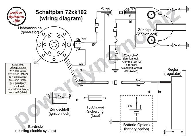 Powerdynamo Zündung System STATOR Yamaha RD350 RD 350 RD400 RD 400 ...