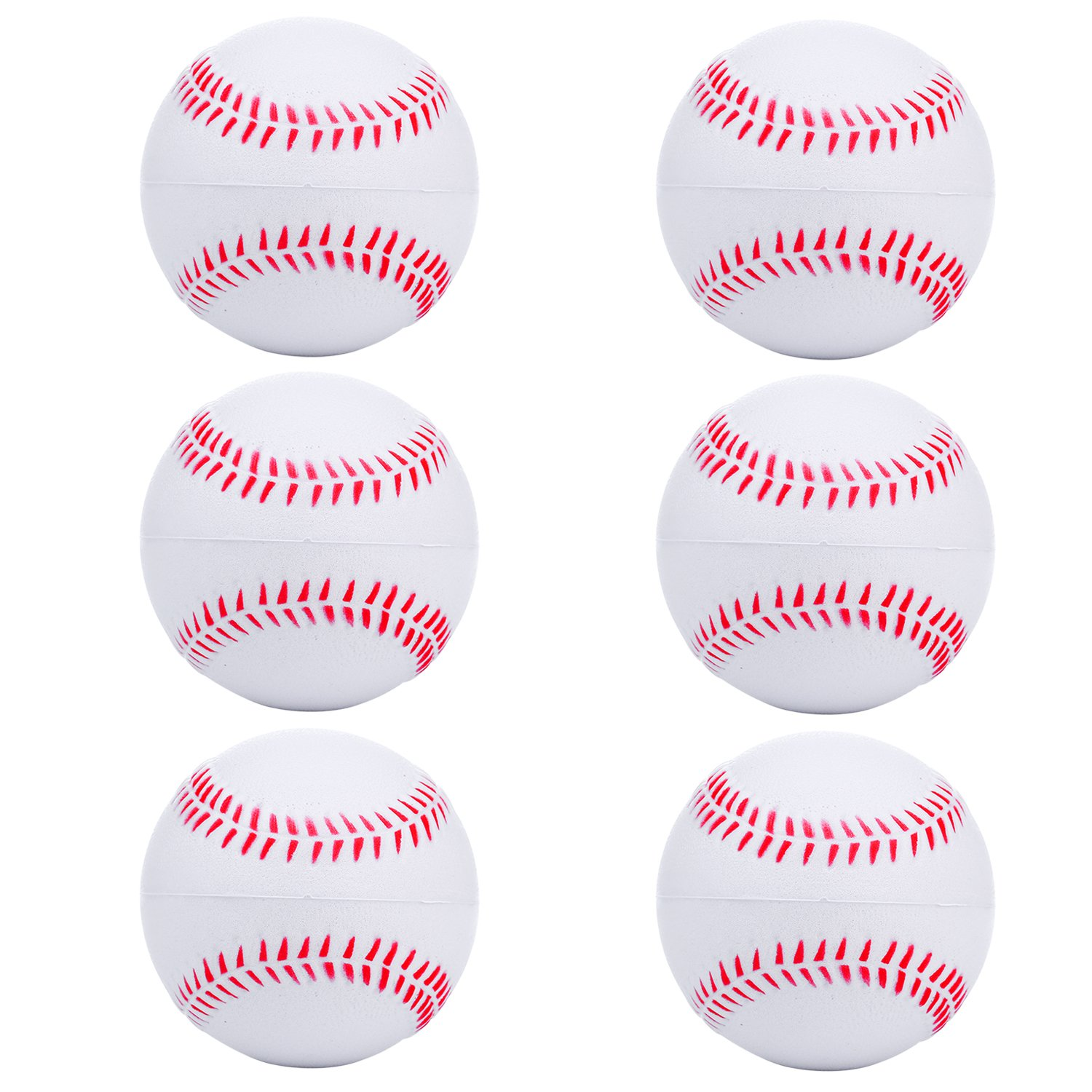 niceEshop(TM) 2pcs Foam Baseball Balls Reduced Impact Safety Softball for Children Teenager Players