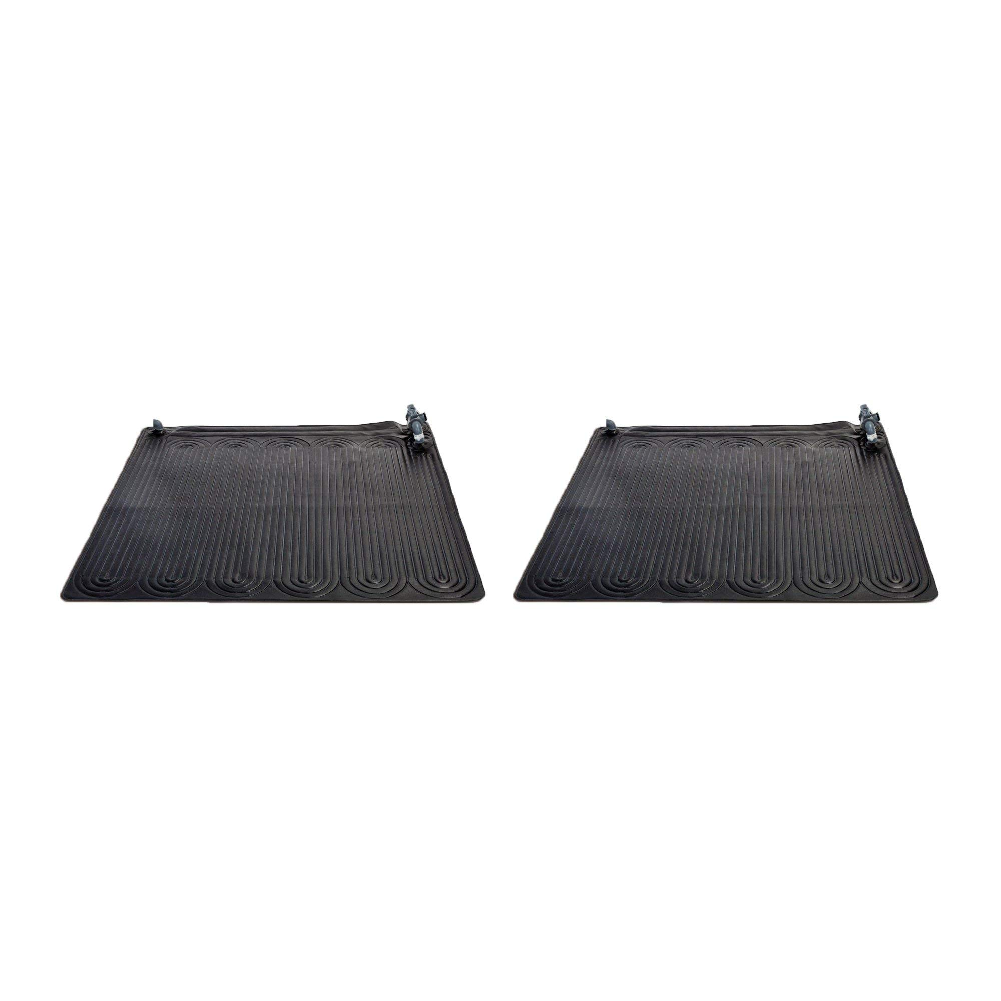Intex 28685E Above Ground Swimming Pool Water Heater Solar Mat, Black (2 Pack) by Intex