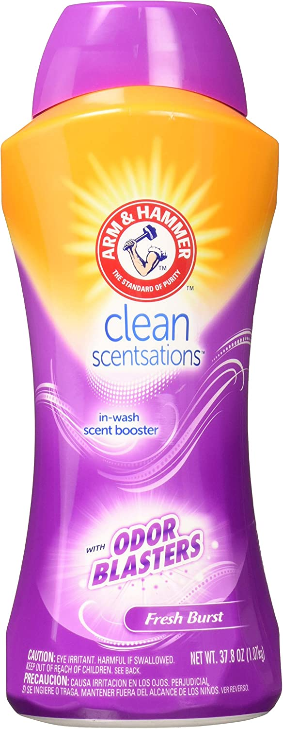 Arm & Hammer Clean Scentsations In-wash Freshness Booster, Odor Blaster - Sample, 37.8 ounce