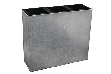 Vivanno Pflanzkubel Raumteiler Sichtschutz Fiberglas Beton Design Grau Elemento 75x88x30