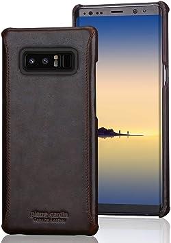 Pierre Cardin Funda Galaxy Note 8, Cuero Genuino Premium Vintage ...