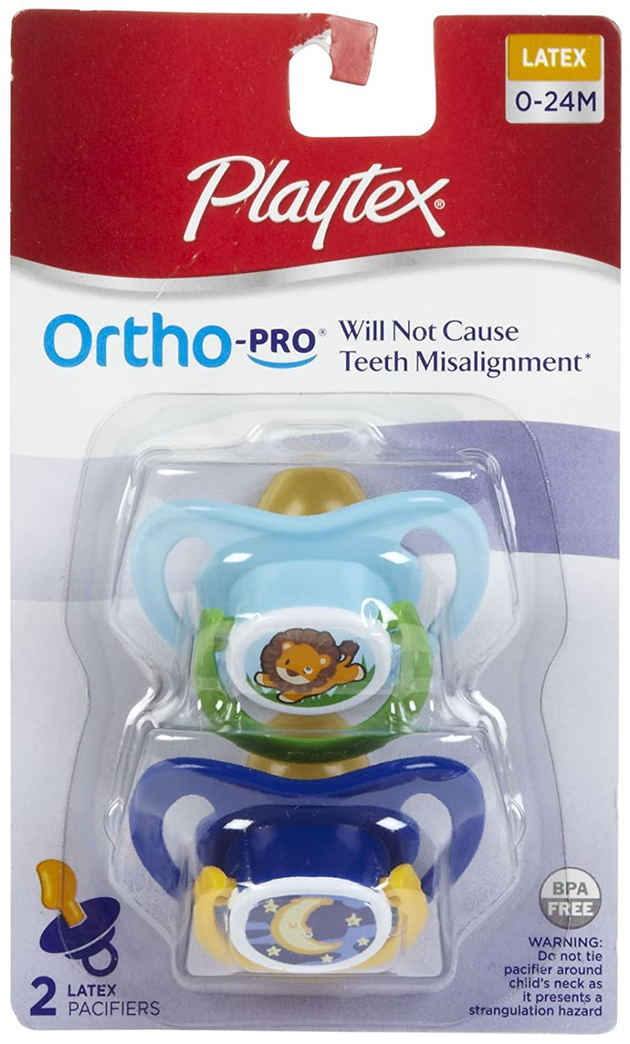 Amazon.com: Playtex Ortho Pro látex Chupete – 0 – 24 meses ...