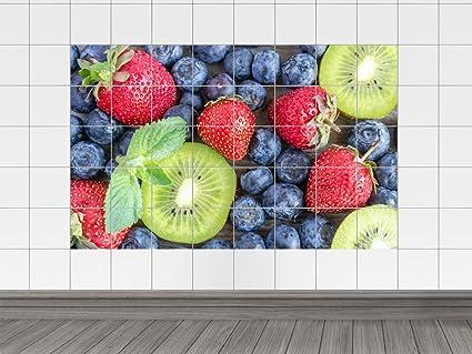 Piastrelle adesivo piastrelle immagine fragole kiwi frutta cucina