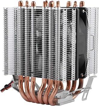 Mugast Ventilador CPU con Refrigeración Líquida Refrigerador de CPU con Seis Tubos de Calor en Forma de U para AMD y Intel.: Amazon.es: Electrónica