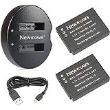 Newmowa EN-EL12 Batteria (confezione da 2) e Doppio Caricatore USB per Nikon EN-EL12