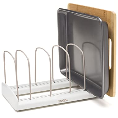 YouCopia StoreMore Adjustable Bakeware Rack Pan Organizer