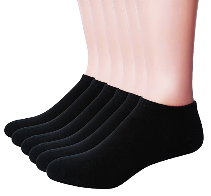 5c03de69c Men's Ankle Cotton Socks - Everyday Low Cut No Show Socks 6-Pack at ...