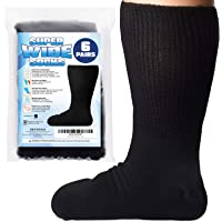 [6 Pairs] of Impresa Extra Width Socks for Lymphedema - Bariatric Sock - Oversized Sock Stretches up to 30'' Over Calf…