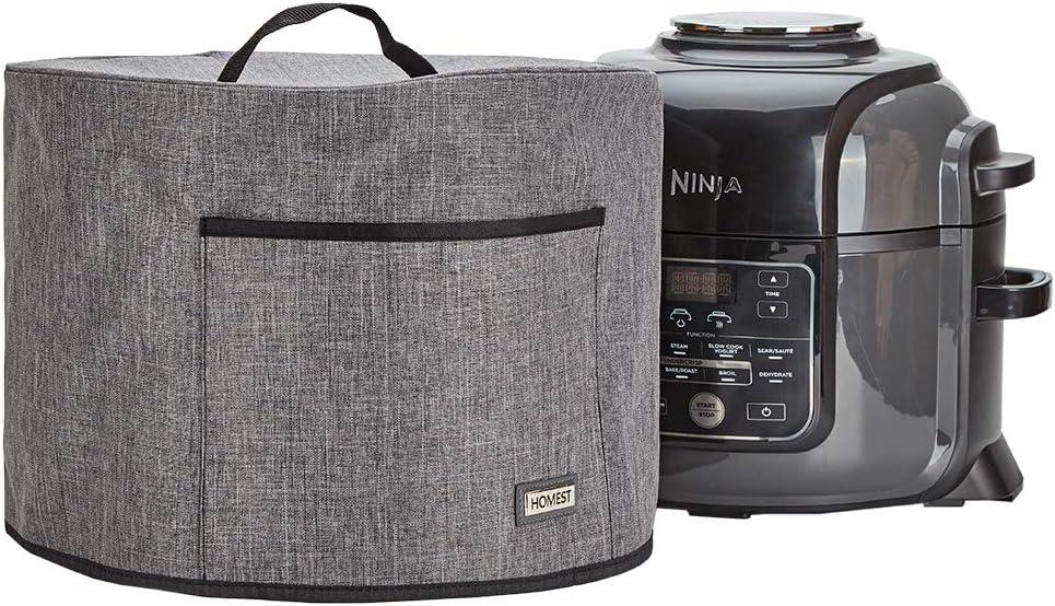 HOMEST Dust Cover for Ninja Foodi 6.5 Quart Pressure Cooker, Air Fryer and Tender Crisper, Easy-to Clean Liner with Full Aluminum Covered, Grey (Patent Pending)
