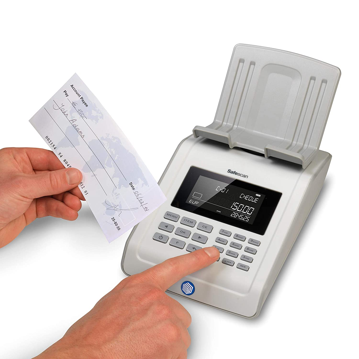 Advanced money counting scale for counting banknotes and coins Safescan 6185 Grey