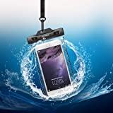 """Universal Dry Bag Keynice IPX8 Waterproof Case with Touch Responsive Transparent Windows Armband Neck Strap for Iphone 7 7plus 6 6plus and other Devices up to 5.8"""""""