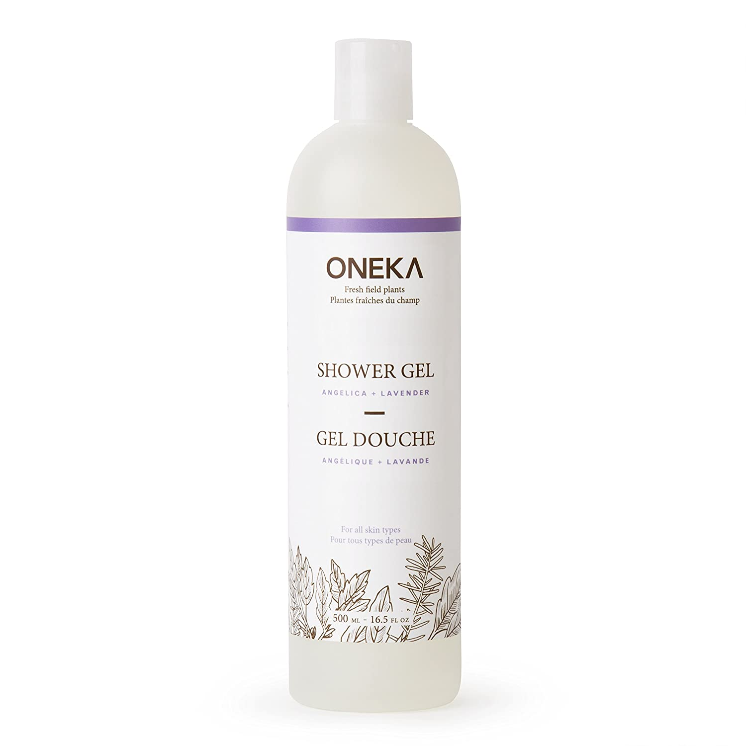Oneka Angelica Plus Lavender Shower Gel, 16.5 fl. Oz. QECJU
