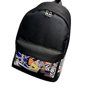 Tongshi Hombro de la lona Mochila Polka Dot Escuela recorrido del bolso Mochilas (B): Amazon.es: Deportes y aire libre