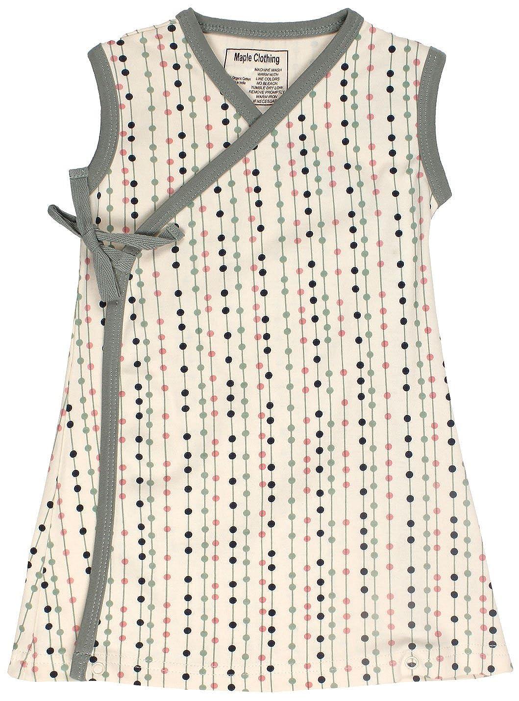 Maple Clothing DRESS ベビーガールズ 6 - 12 Months Natural-Stripe-Dots B00Y1DCTTM
