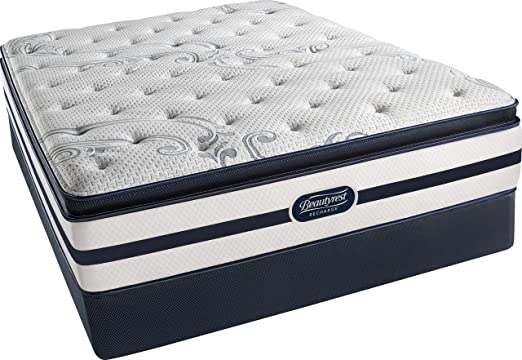 Simmons Beautyrest Recharge Full Size Classic Plush Pillow Top Mattress and Boxspring Set