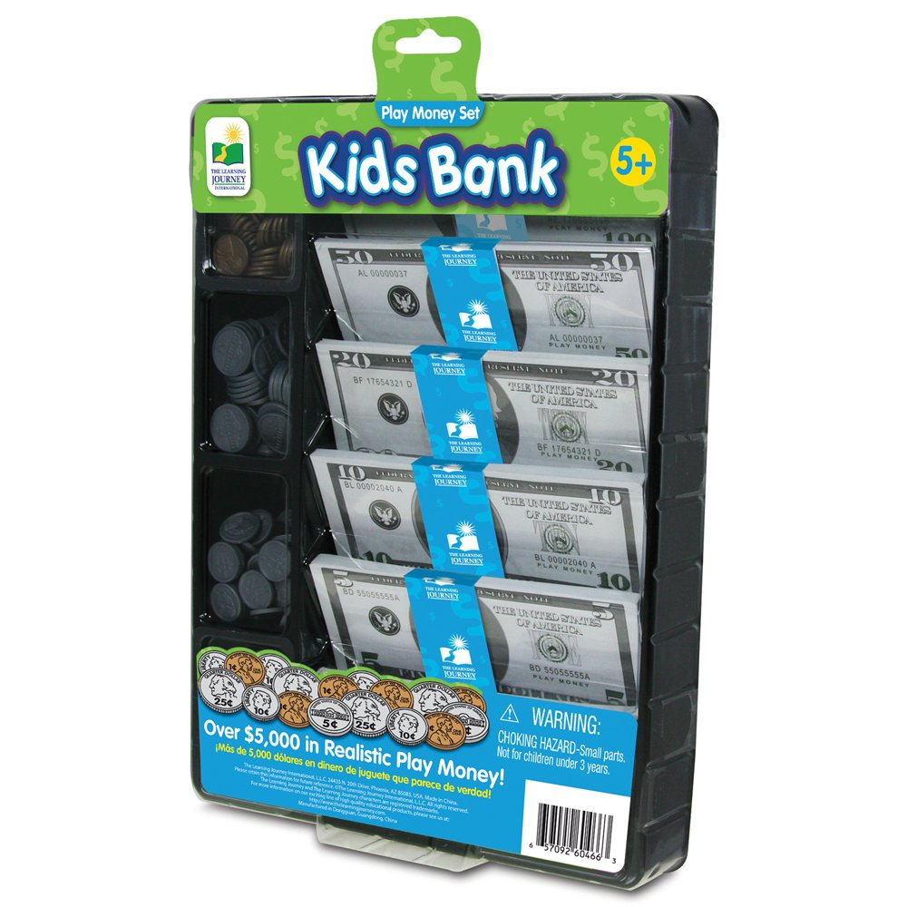 The Learning Journey Kids Bank, Play Money Set by The Learning Journey
