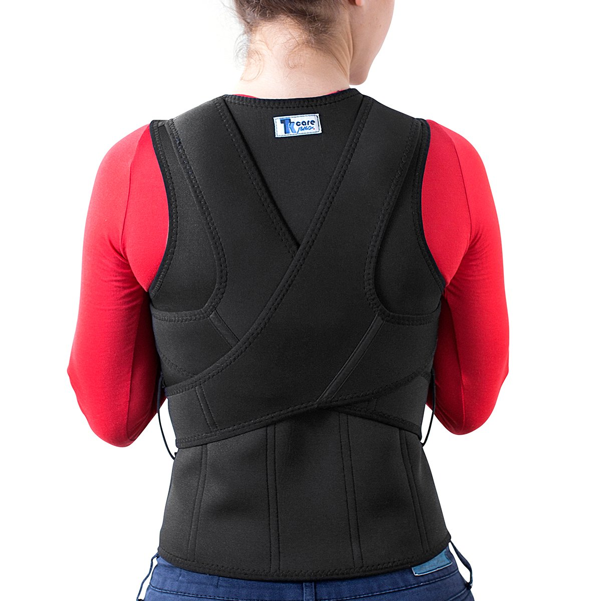 THE ULTIMATE Posture Corrector for Women & Men Under Clothes | Effective & Comfortable | Back Brace for Slouching & Hunching -Shoulders Clavicle Support | Upper & Lower Back Supports | Body Therapy by TK Care Pro.