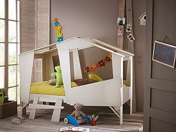 Höhlenbett Baumhausbett Kinderbett Bett Baumhaus Spielhöhle Beige ...