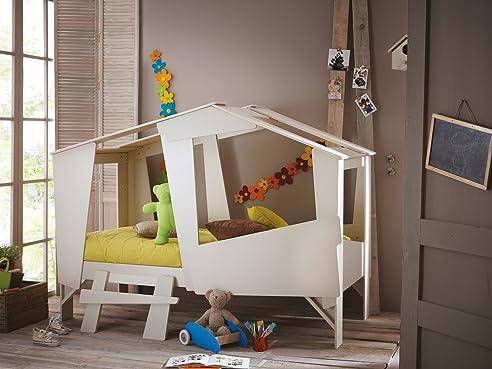 Kinderbett baumhaus  Höhlenbett Baumhausbett Kinderbett Bett Baumhaus Spielhöhle Beige ...