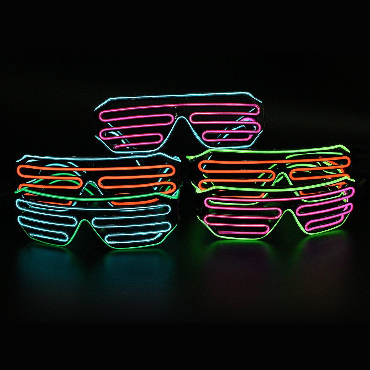 LED-Glas-Partei, Standardsteuer-Neon-El-Draht LED leuchten bunten ...