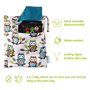 Jessicadaphne Wet Dry Bag Splei/ß Stoffwindel Wet Bags wasserdichte Doppelkinderwagen Travel Zipper Snap Handing f/ür Badebekleidung Baden