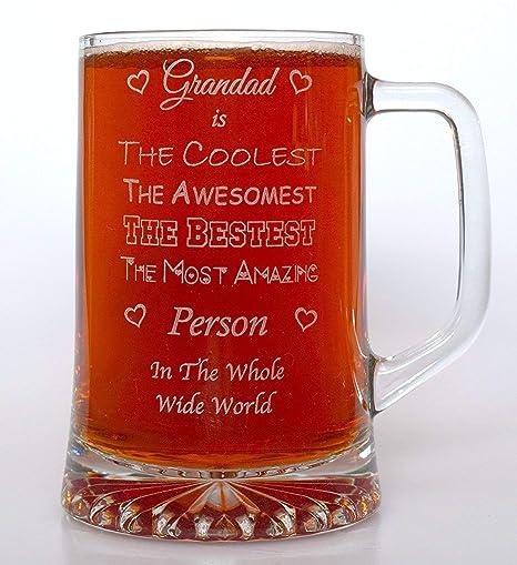 FBA Personalised GRANDAD/'S RUM Glass Tumbler Gift Christmas//Birthday