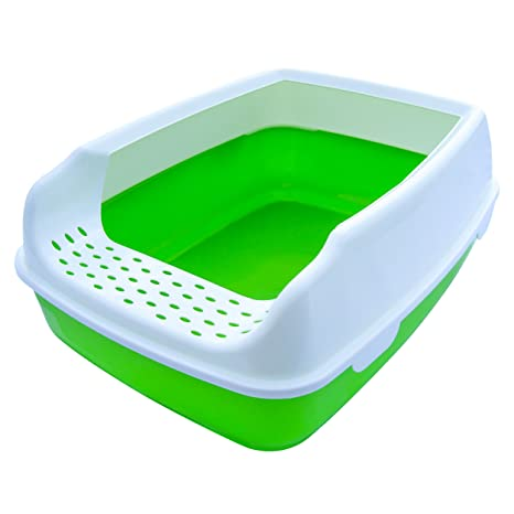 Cat Litter Box   High Sided Lid   Open Top Entry   By Two Meows,