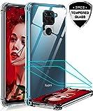 LeYi Funda Xiaomi Redmi Note 9 con [2-Unidades] Cristal Templado, Transparente Shockproof Carcasa Hard Silicone PC y…
